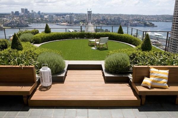 Rooftop Garden in Sydney.